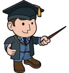 professor in cap and gown vector image