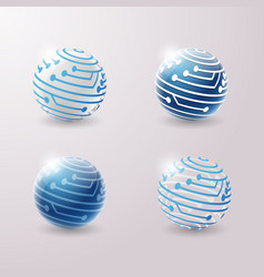 3d icons set vector image vector image