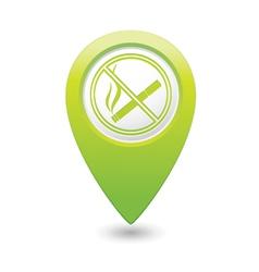 NOsmoking GREEN map pointer vector image
