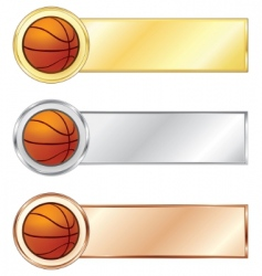 Basketball medals vector