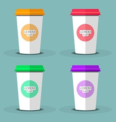 Blank coffee cup to represent your desing vector