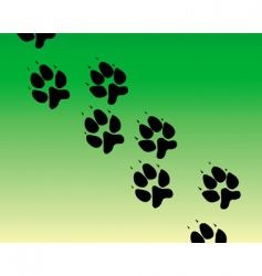 traces of the animal vector image