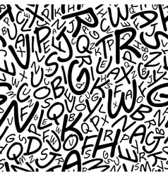 Seamless alphabet pattern in a cartooned font vector image