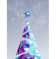Merry christmas happy new year tree triangle 2016 vector