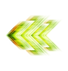 Green arrow tech background vector image