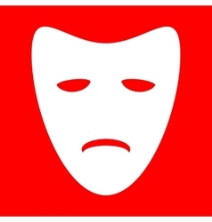 Tragedy theatrical masks vector