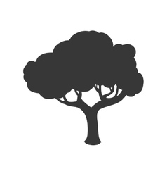 Tree silhouette icon nature design vector