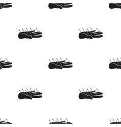 Acupuncture icon in black style isolated on white vector