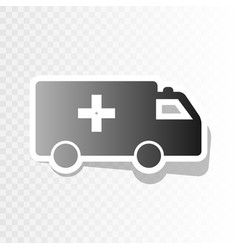 Ambulance sign new year vector