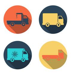 delivery car icon set vector image