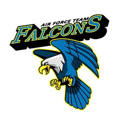 Falcons air force team mascot vector