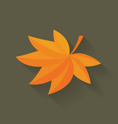 fall maple leaf vector image