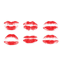 female beautiful lips lipstick kiss vector image vector image