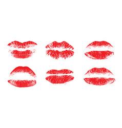 female beautiful lips lipstick kiss vector image
