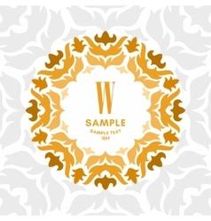 Floral luxurious logo monogram golden on white vector