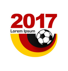 Germany football sport emblem vector