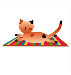 happy cat has a rest vector image vector image