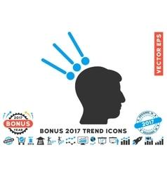 Head test connectors flat icon with 2017 bonus vector