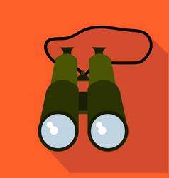 hunting binoculars flat and cartoon style vector image vector image