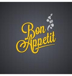 Menu vintage lettering background vector