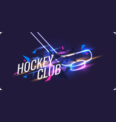 Modern poster ice hockey championship with the vector