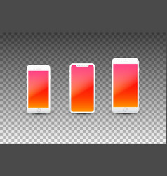 modern smartphones with empty screens high vector image