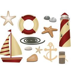 Nautical symbols vector