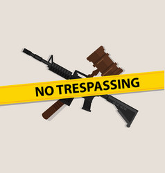 no trespassing law gavel wooden hammer justice vector image vector image