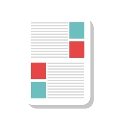 Office notepad or document vector image