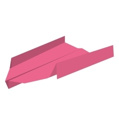 Pink paper plane freedom play vector