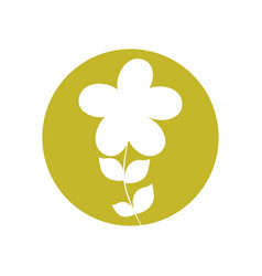plumeria flower natural icon vector image vector image
