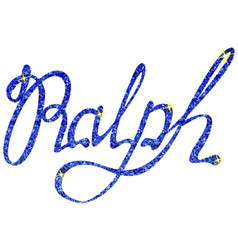 Ralph name lettering tinsels vector
