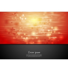 Red shiny sparks background vector