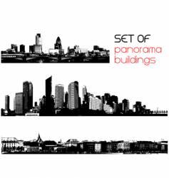 set of cities vector image vector image