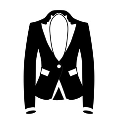 Womens blazer icon simple style vector image
