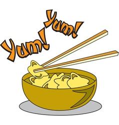 Wonton Soup vector image vector image