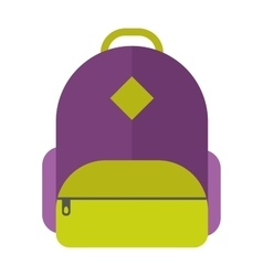Flat sport backpack vector