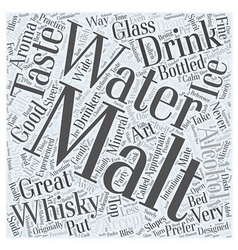 The art of drinking whisky word cloud concept vector