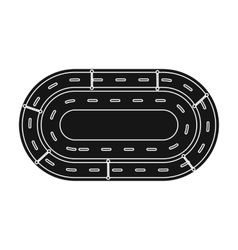 Hippodrome icon in black style isolated on white vector image