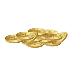 Matal coins outside icon vector