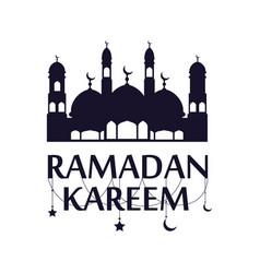 Traditional ramadan kareem art month celebration vector