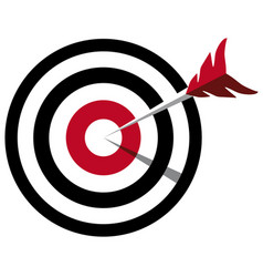 Arrow hitting target business concept vector