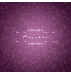 Background of flowers with place for message vector