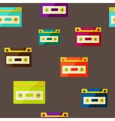 Audiocassette seampless background vector