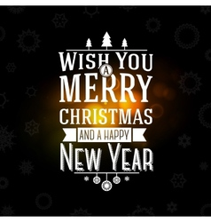 Merry christmas and happy new year greeting card - vector