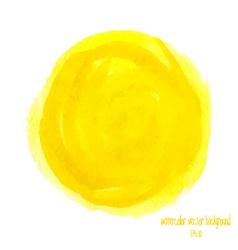 Yellow watercolor circle vector