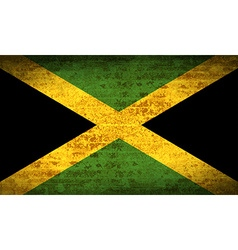 Flags jamaica with dirty paper texture vector
