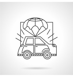 Car body insurance line icon vector