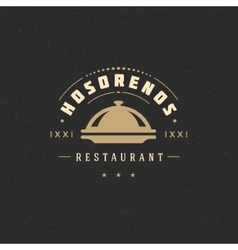 Restaurant cloche design element vector