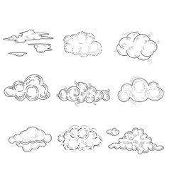Hand Drawn Cloud Set vector image